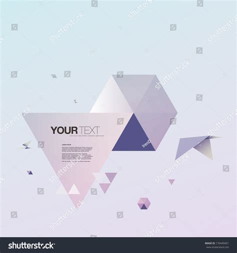 Origami World - abstract 3d origami world bird triangles stock vector