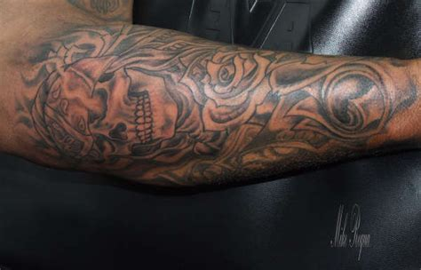 Black And Grey Gangster Tattoos | gangster black and gray tattoo