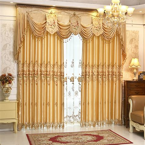 curtain and valance set readymade luxury embroidered curtains set valance sheer