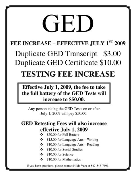 ged certificate template download fee schedule template