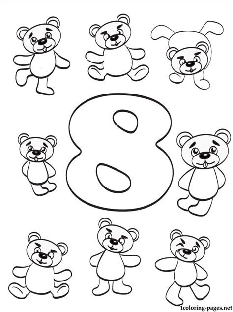 coloring pages for the number 8 number 8 eight coloring page coloring pages