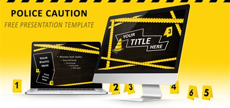 police caution free powerpoint and impress template