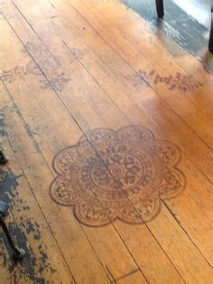 pretty painted floors with flower designs 1000 images about wall treatments on rustic