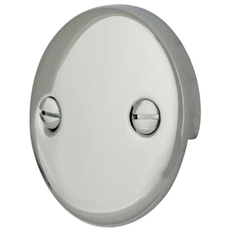 bathtub hole cover kingston brass chrome tub 2 hole overflow cover plate
