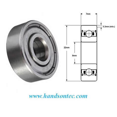 Miniature Bearing 608zz For 3d Printing Machine 8 X 22 X 7 Mm 608zz 8x22x7 mm metal shield bearing handson tech