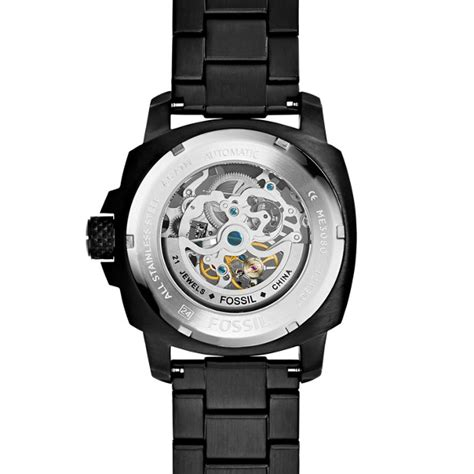 Fossil Machine Automatic Me3080 modern machine automatic black stainless steel fossil