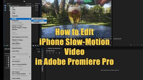 adobe premiere pro slow motion how to edit iphone slow motion video in adobe premiere