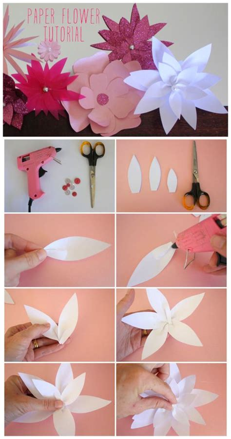 paper lotus flower tutorial 17 best ideas about paper flower tutorial on