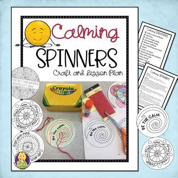 Coping Card Template by Calming Spinners Stress And Coping Skills Lesson And
