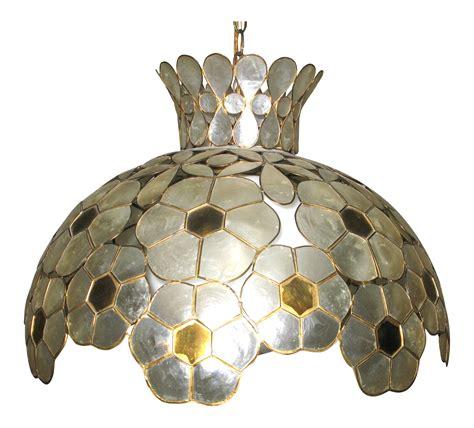 shell chandelier lighting capiz shell chandelier lighting fixture chairish