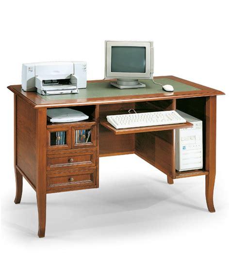 scrivania classica scrivania classica in legno per pc con cassetti noce