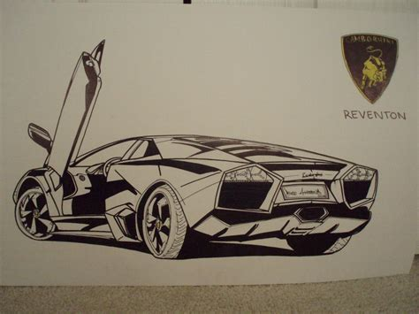 Lamborghini Drawing Car Drawings Lamborghini Reventon