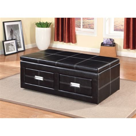 lift top storage bench furniture of america mullan leather lift top storage bench
