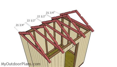 Trusses For A Shed by 6x8 Gable Shed Roof Plans Myoutdoorplans Free