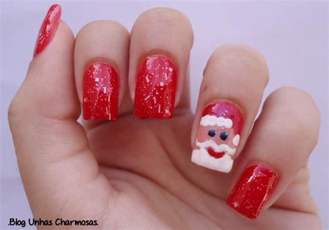 tutorial nail art natal unhas charmosas nail art de natal papai noel tutorial