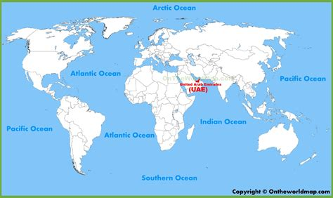 arab emirates map united arab emirates uae location on the world map
