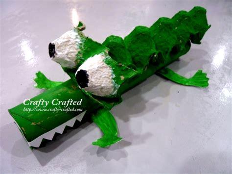 Krokodil Basteln Eierkarton by Crafty Crafted Crafts For Children 187 Alligator