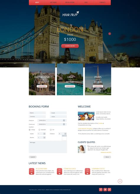 free template themes free responsive html5 theme for travel agency