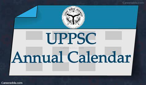 uppsc annual calendar    uppsc calendar