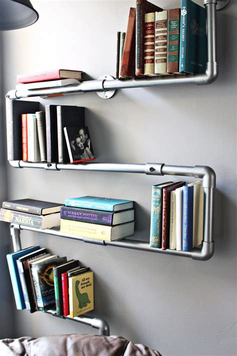 oh my drifter faux galvanized pipe bookshelf oh my drifter