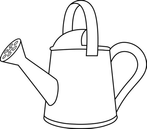 Watering Can Coloring Page colorable watering can outline free clip