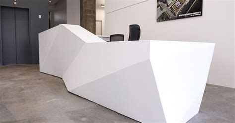 Keller Expandable Reception Desk Studios Architecture Contacted C W Keller To Engineer And Fabricate A Striking Reception Desk