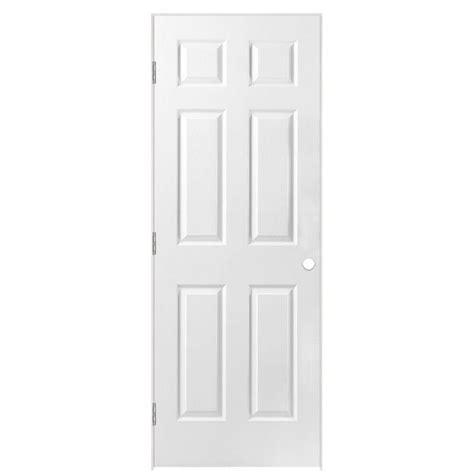28 Prehung Interior Door Shop Masonite Prehung Solid 6 Panel Interior Door Common 28 In X 80 In Actual 29 5 In X