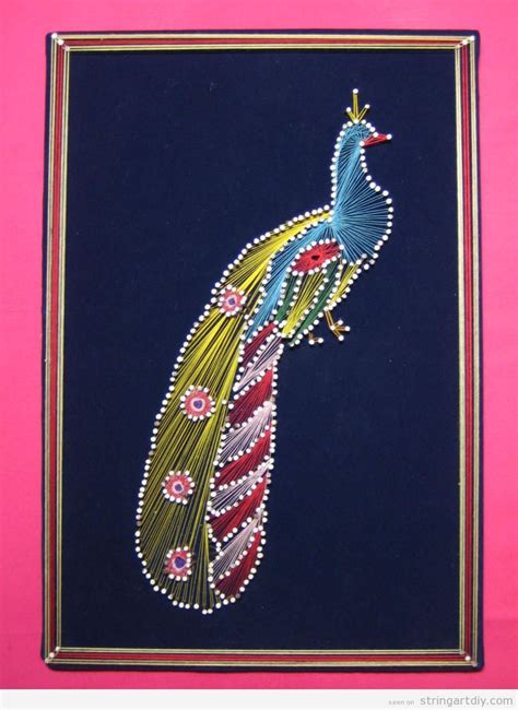 String Peacock Pattern - peacock thread string diy free patterns and