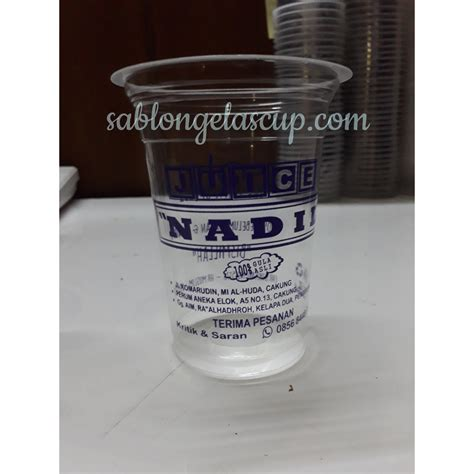 Plastik Tenteng Gelas Thai Tea sablon gelas di indonesia sablon gelas plastik