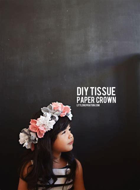 diy paper flower crown tutorial diy tissue paper flower crown little inspiration blog
