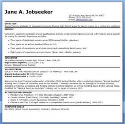Veterinarian Resumes by Veterinary Assistant Resume Exles Career