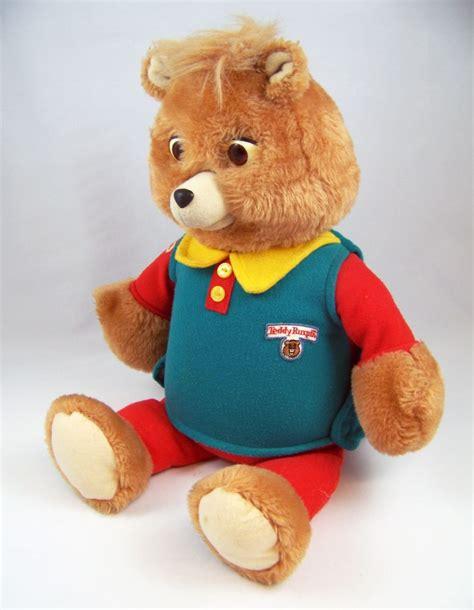 The Teddys And Toys Address Book teddy ruxpin talking plush doll playskool 1995