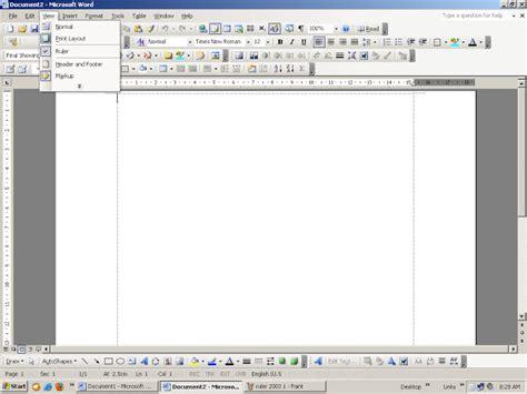 printable ruler ms word tips komputer cara menampilkan ruler garisan bawah dan