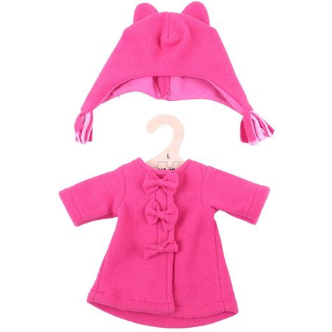 rag doll clothes fleece coat and hat rag doll clothes large kiddymania