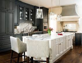 Gray And White Kitchen Cabinets Gray Kitchen Cabinets Transitional Kitchen Traditional Home
