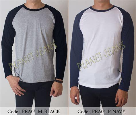 Kaos Lengan Panjang Stussy Premium jual baju kaos polos lengan panjang raglan premium warna