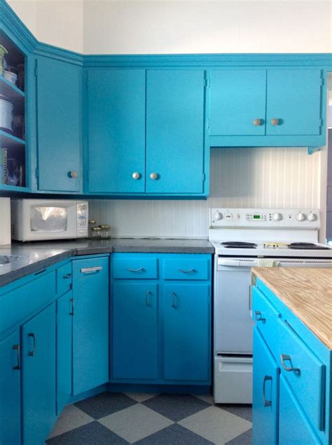 Turquoise Painted Kitchen Cabinets Turquoise Blue Kitchen Cabinets Quicua