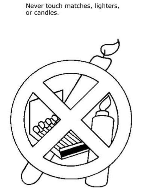 safety fire car colouring pages