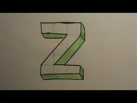 Letter Z Drawing by How To Draw The Letter Z In 3d
