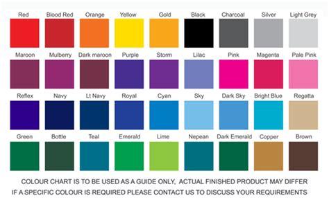 color or colour colour chart