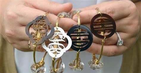 Monogram Wire Bangle Bracelet   Jane