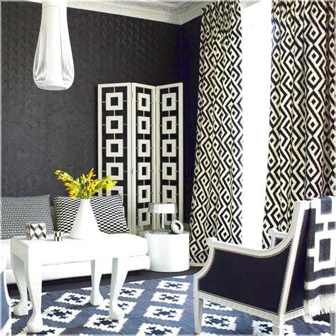black and white geometric curtains geometric curtains with black and white curtains and room