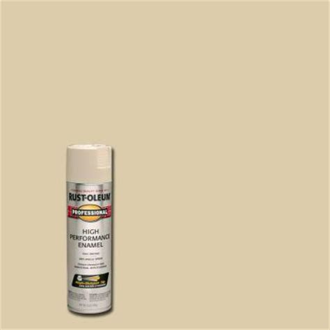 rust oleum professional 15 oz almond gloss spray paint of 6 7570838 the home depot