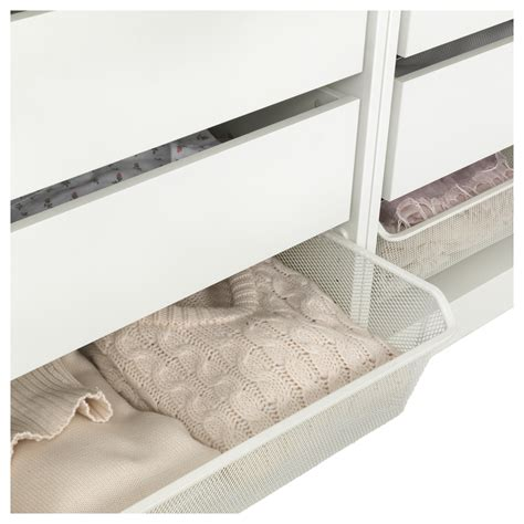 stahlschrank 30 cm tief komplement mesh basket with pull out rail white 100x58 cm