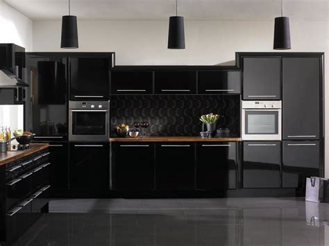 Black Kitchen Cabinets Design Ideas - kitchen decorating ideas black kitchen house interior