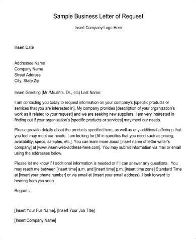 sample request letter templates ms word