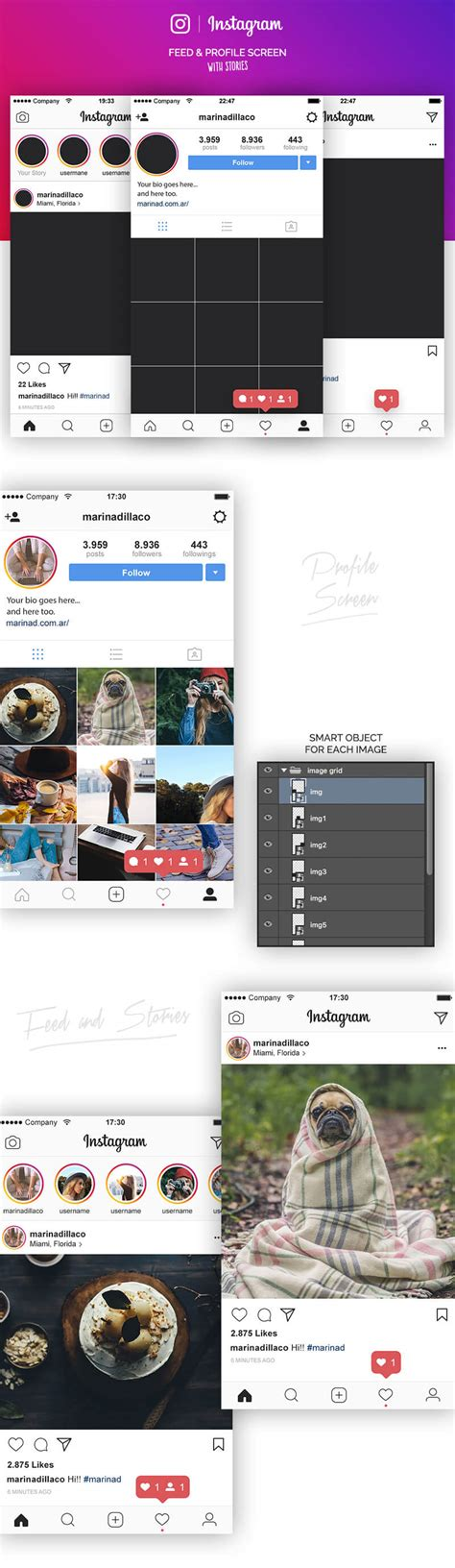 full version of instagram online instagram free ui template mockuplove