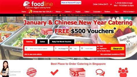 new year 2018 catering singapore cny catering with foodline eatdreamlove
