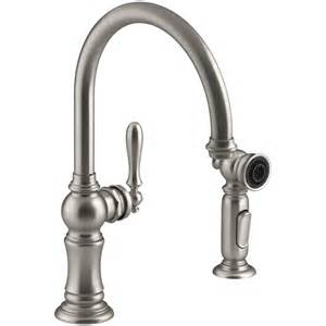 kitchen faucet with side spray shop kohler artifacts vibrant stainless 1 handle high arc