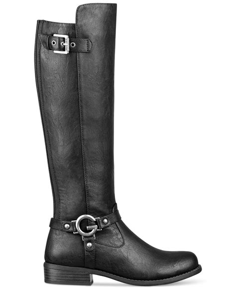 g by guess black hellia boots lyst